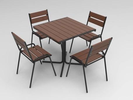 "Набор ""Кафе"" (1 стол+ 4 стула)"