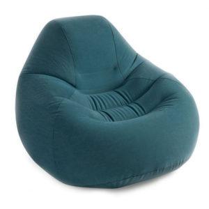 Кресло надувное DELUXE BEANLESS 122х127х81см син. INTEX 68583