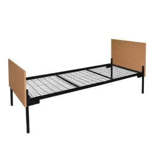 Кровать металлическая спинки ЛДСП