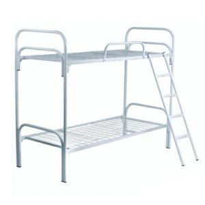 Кровать бытовая 2-ярусная c лестницей и ограждением