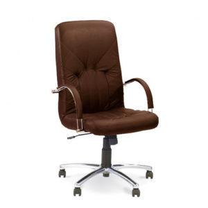 Кожаное кресло Менеджер Стиль Хром