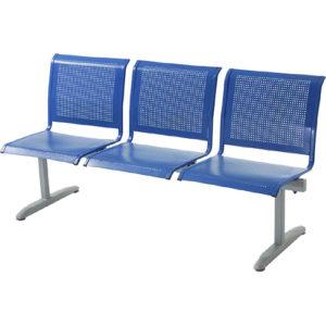 Секция стульев из перфорированного металла Флайт